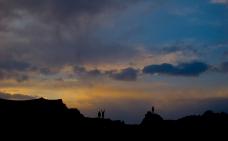 Desert dwellers enjoy the sunset in Moab, UT. April, 2015