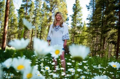 Portrait in a field of flowers. Breckenridge, CO. July, 2017.