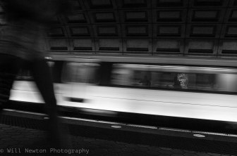 Commuters seen in a D.C. Metro station. August, 2017