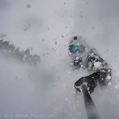 Self Portrait on a powder day at Breckenridge Ski Resort. Breckenridge, CO. December, 2016.