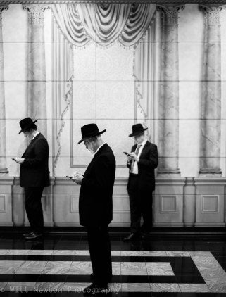 Jewish Orthodox men, studying.
