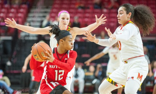 Game time action between UMD and Rutgers, February 1st, 2018.