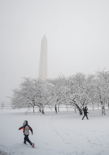 A Washington, D.C. snow day on Wednesday March 21st, 2018. (Photo by Will Newton)