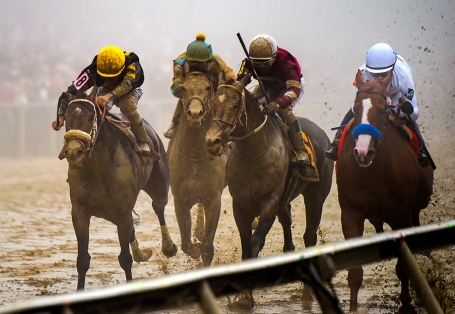 The running of the Preakness Stakes in Baltimore, Maryland on May 19, 2018. (Photo by Will Newton)