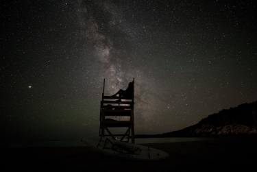 The milky was is seen from Sand Beach during a new moon in Acadia National Park on June 16, 2018. Photo by Will Newton/Friends of Acadia/NPS