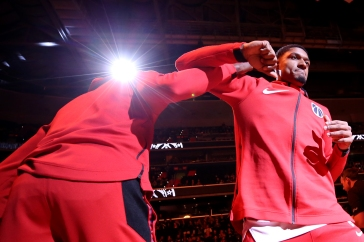 WASHINGTON, DC - NOVEMBER 20: Bradley Beal #3 of the Washington Wizards is introduced before playing against the LA Clippers during the first half at Capital One Arena on November 20, 2018 in Washington, DC. (Photo by Will Newton/Getty Images)