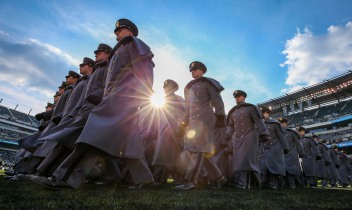 PHILADELPHIA, PA - DECEMBER8: Army cadets participate in the walk-on prior to the 119th Army-Navy game at Lincoln Financial Field in Philadelphia, PA on December 8, 2018. (Photo by Will Newton)