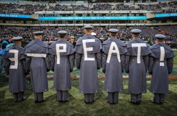"PHILADELPHIA, PA - DECEMBER 8: Army Cadets participate in the ""Prisoner Exchange"" prior to the 119th Army-Navy game at Lincoln Financial Field in Philadelphia, PA on December 8, 2018. (Photo by Will Newton)"
