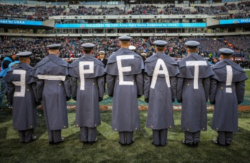 """PHILADELPHIA, PA - DECEMBER 8: Army Cadets participate in the """"Prisoner Exchange"""" prior to the 119th Army-Navy game at Lincoln Financial Field in Philadelphia, PA on December 8, 2018. (Photo by Will Newton)"""