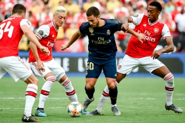 LANDOVER, MD - JULY 23: at FedExField on July 23, 2019 in Landover, Maryland. (Photo by Will Newton/International Champions Cup via Getty Images)