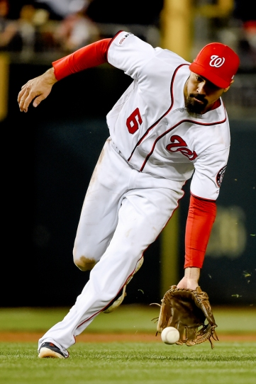 WASHINGTON, DC - MAY 15: Anthony Rendon #6 of the Washington Nationals fields during the seventh inning against the New York Mets at Nationals Park on May 15, 2019 in Washington, DC. (Photo by Will Newton/Getty Images)