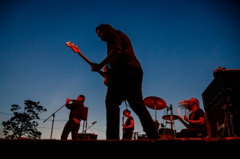 WASHINGTON, DC - JULY 15: The Hammered Hulls perform during the Fort Reno concert series at Fort Reno Park in Washington, DC on July 15, 2019. (Photo by Will Newton for The Washington Post)