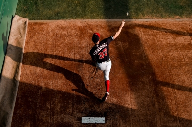WASHINGTON, DC - JUNE 04: Stephen Strasburg #37 of the Washington Nationals warms up prior to the game against the Chicago White Sox at Nationals Park on June 4, 2019 in Washington, DC. (Photo by Will Newton/Getty Images)