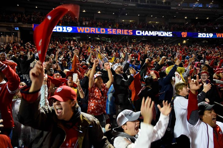 WASHINGTON, DC. October 30, 2019. Washington Nationals 2019 World Series Watch Party at Nationals Park