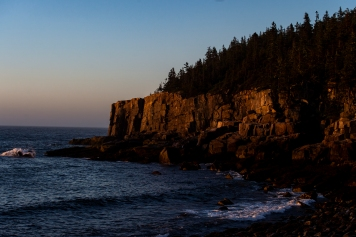 ACADIA NATIONAL PARK, ME - AUGUST 5: The rising sun illuminates Otter Cliffs in Acadia National Park, ME on August 5, 2020. (Photo by Will Newton/Friends of Acadia)